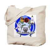 Outer Space 6th Birthday Tote Bag
