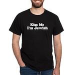 Kiss Me I'm Jewish Black T-Shirt