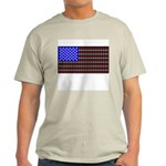 Cat Tracks Flag Ash Grey T-Shirt