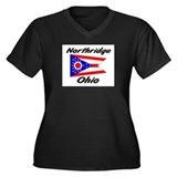 Northridge Ohio Women's Plus Size V-Neck Dark T-Sh
