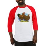 GL Wyandotte Rooster and Hen Baseball Jersey