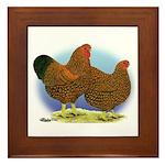 GL Wyandotte Rooster and Hen Framed Tile