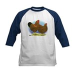 GL Wyandotte Rooster and Hen Kids Baseball Jersey