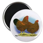 GL Wyandotte Rooster and Hen Magnet