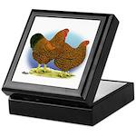 GL Wyandotte Rooster and Hen Keepsake Box