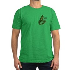 Cape Breton Men's Fitted Green T-Shirt