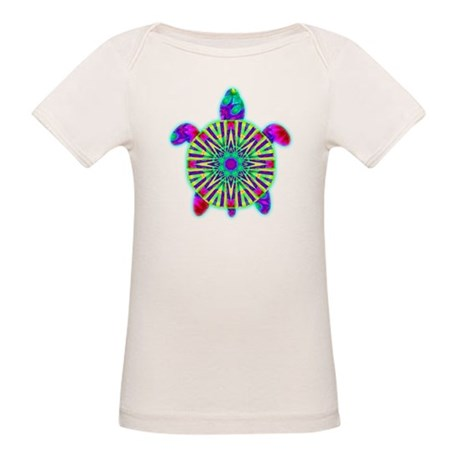 Colorful Sea Turtle Organic Baby T-Shirt