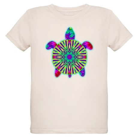 Colorful Sea Turtle Organic Kids T-Shirt