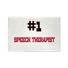 Number 1 SPEECH THERAPIST Rectangle Magnet