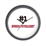 Number 1 SPEECH PATHOLOGIST Wall Clock
