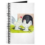 Porcelain d'Uccle Rooster and Journal