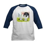 Porcelain d'Uccle Rooster and Kids Baseball Jersey