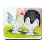 Porcelain d'Uccle Rooster and Mousepad