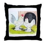 Porcelain d'Uccle Rooster and Throw Pillow