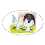 Porcelain d'Uccle Rooster and Oval Sticker