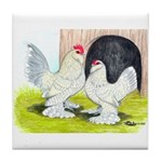 Porcelain d'Uccle Rooster and Tile Coaster