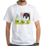 Porcelain d'Uccle Rooster and White T-Shirt