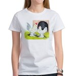 Porcelain d'Uccle Rooster and Women's T-Shirt