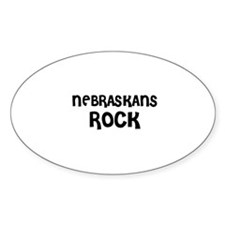 NEBRASKANS ROCK Oval Decal