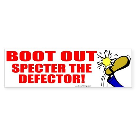 Boot Specter The Defector Bumper Sticker