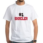 Number 1 SHINGLER White T-Shirt
