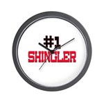 Number 1 SHINGLER Wall Clock