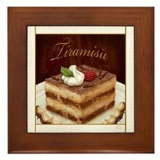 Tiramisu Framed Tile