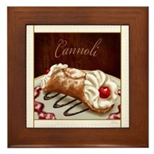 Cannoli Framed Tile