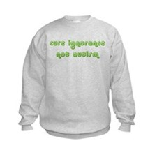 Cure Ignorance (Green) Kids Sweatshirt