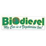 BioDiesel Vegetarian Car Bumper Stickers