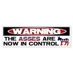 Asses in Control Bumper Sticker (10 pk)