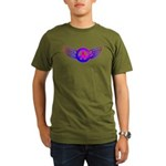 Peace Wing Groovy Organic Men's T-Shirt (dark)