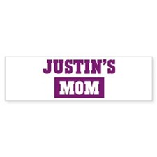 Justins Mom Bumper Car Sticker