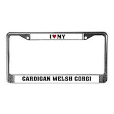 I Love My Cardigan Welsh Corgi License Plate Frame