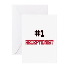 Number 1 RECEPTIONIST Greeting Cards (Pk of 10)