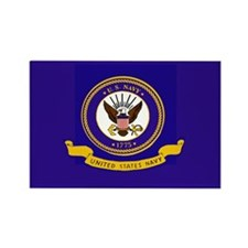 Navy Flag Rectangle Magnet (100