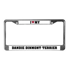 Love My Dandie Dinmont Terrier License Plate Frame