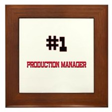 Number 1 PRODUCTION MANAGER Framed Tile