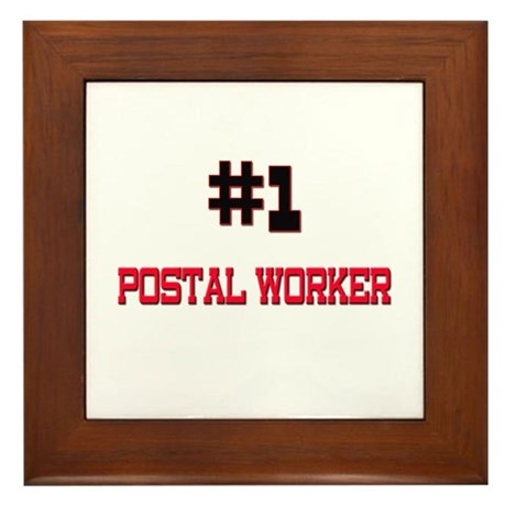 Number 1 POSTAL WORKER Framed Tile