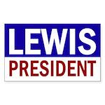 Lewis for President (bumper sticker)
