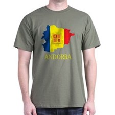 Map Of Andorra T-Shirt