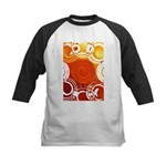 Orange Abstract Kids Baseball Jersey