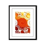 Orange Abstract Framed Panel Print