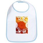 Orange Abstract Bib