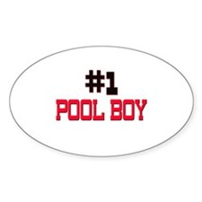 Number 1 POOL BOY Oval Decal