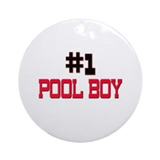 Number 1 POOL BOY Ornament (Round)
