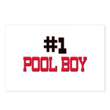 Number 1 POOL BOY Postcards (Package of 8)
