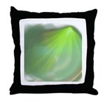 Green Magic Throw Pillow