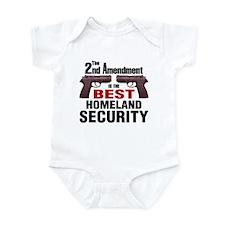 Guns & Homeland Security Infant Bodysuit