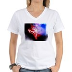 Dark Fractal Women's V-Neck T-Shirt